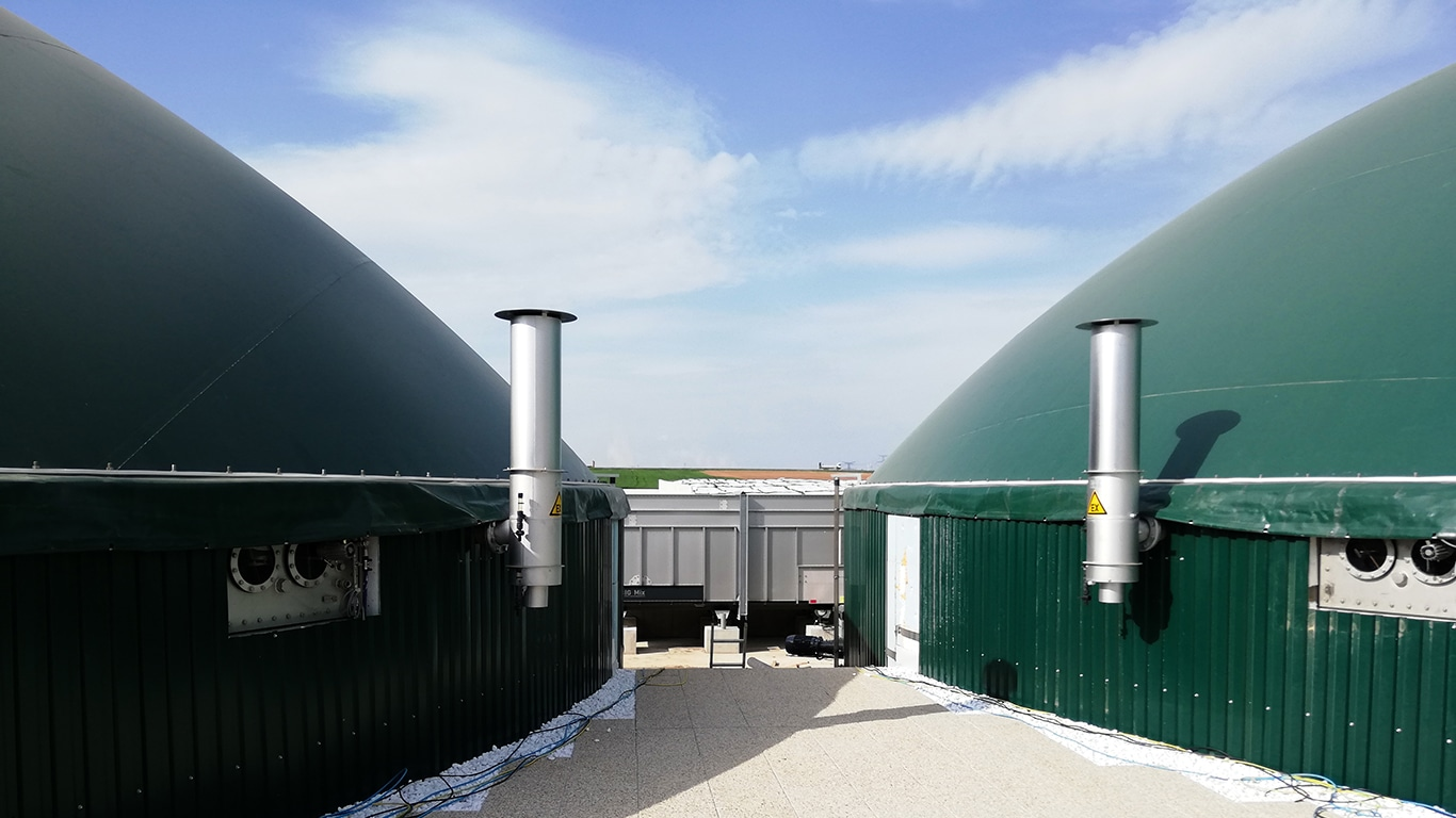 Biogasanlage Fessenheim: Aus ungenutzten Schlachtabfällen wird hochwertiges Biomethan